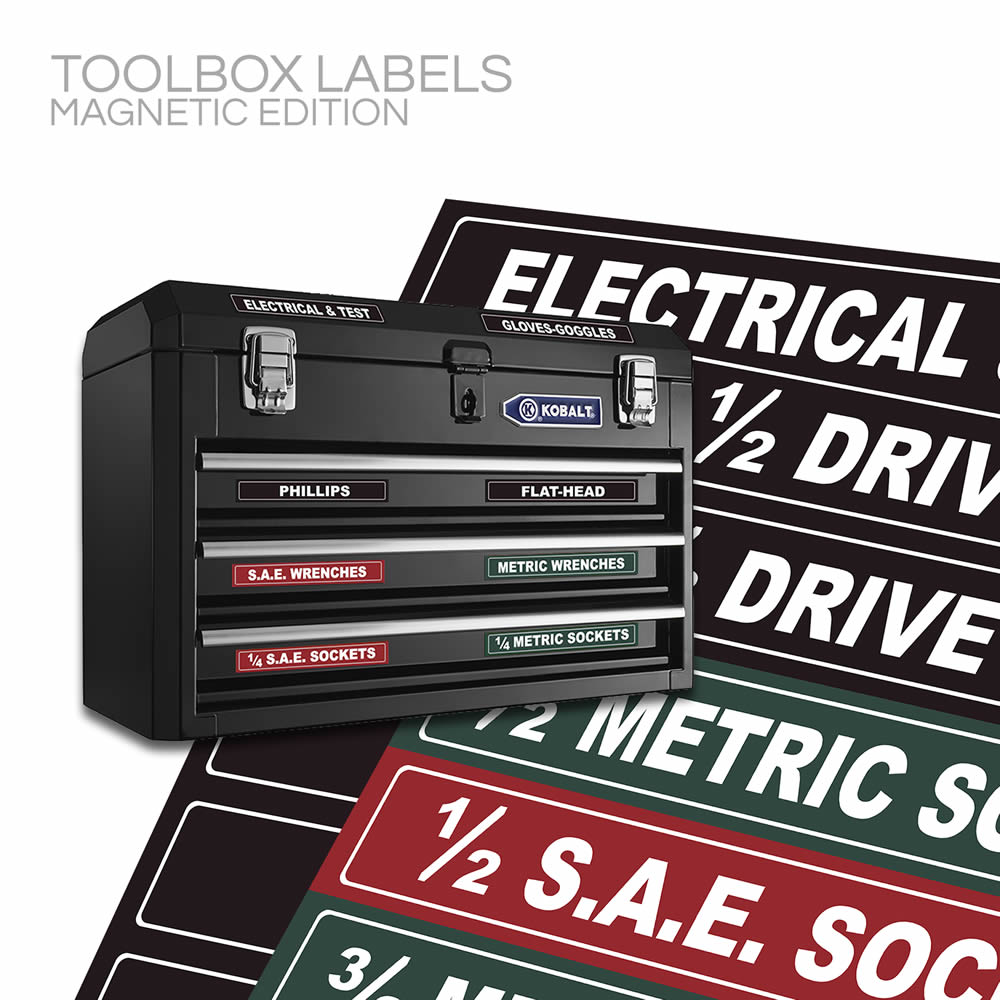 Magnetic Toolbox Labels